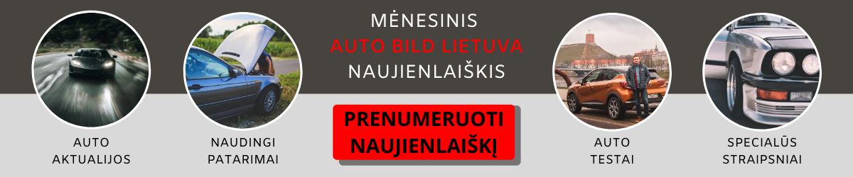 AutoBildLietuva naujienlaiškio prenumerata