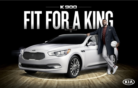 LeBron James ir Kia K900
