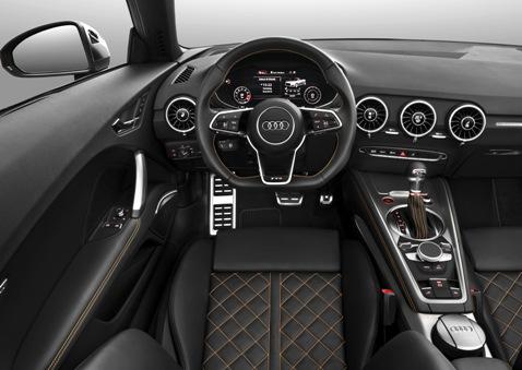Fahraufnahme    Farbe: Vegasgelb    Verbrauchsangaben Audi TTS Roadster:Kraftstoffverbrauch kombiniert in l/100 km: 7,5 - 6,9;CO2-Emission kombiniert in g/km: 174 - 159