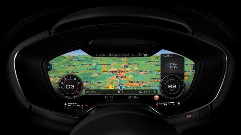 Audi virtual cockpit    Verbrauchsangaben Audi TT:Kraftstoffverbrauch kombiniert in l/100 km: 7,1 - 4,2;CO2-Emission kombiniert in g/km: 164 - 110