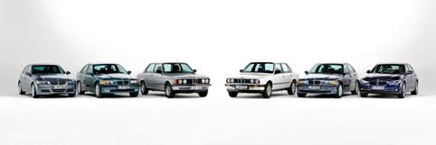 BMW 3er Familie, von E21 bis F90;  Eisbach Studios Pasing, Februar 2015;