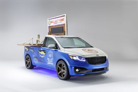 "Kia's ""A Day at the Races"" theme for the 2014 SEMA Show  SXL"