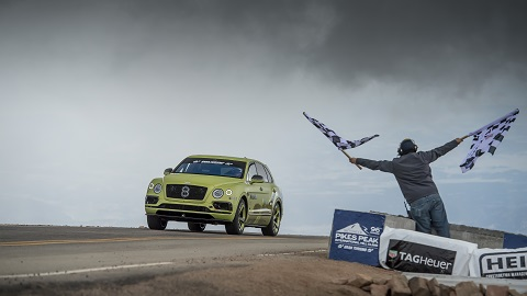 Bentayga Pikes Peak - Finish Line