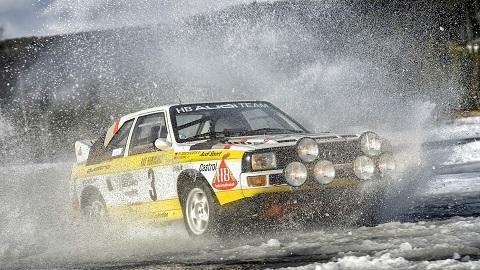 Stig Blomqvist, Rallye-world champion 1984, in Sport quattro Rallye Audi