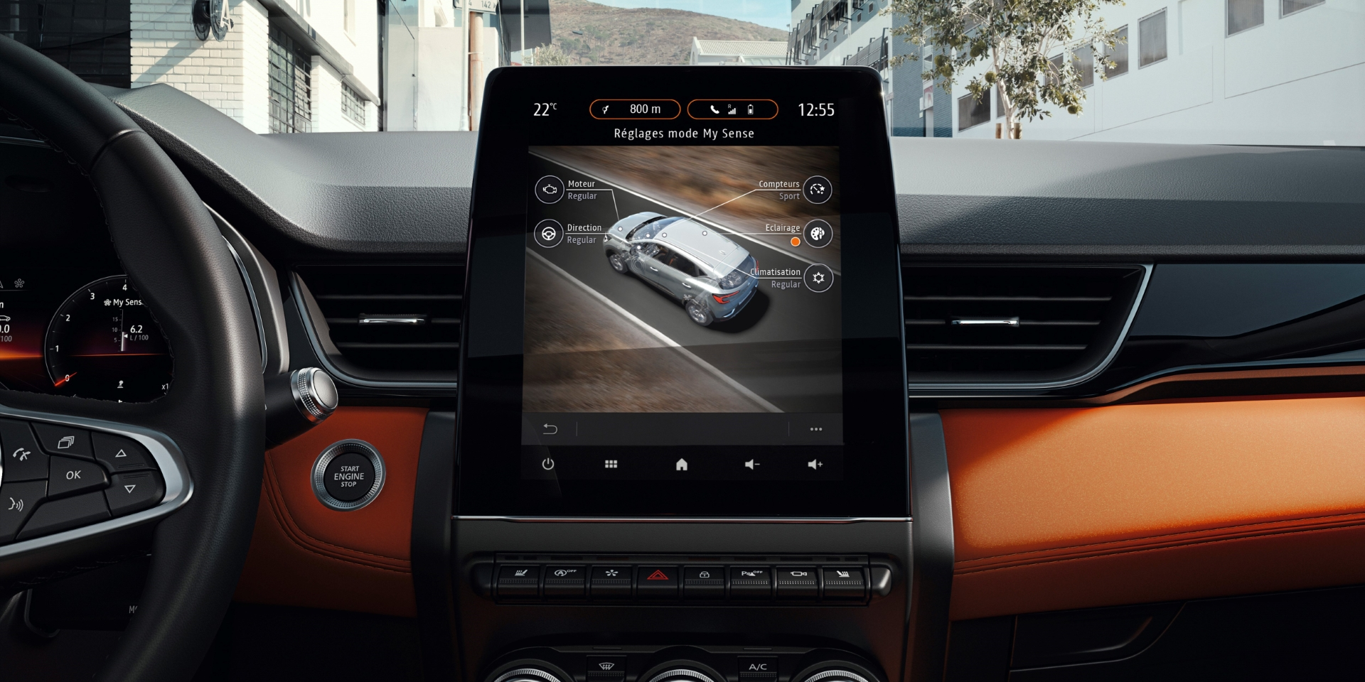 Nouveau Renault CAPTUR informacinė automobilio sistema