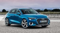 nauja mėlyna Audi A3 Sportback