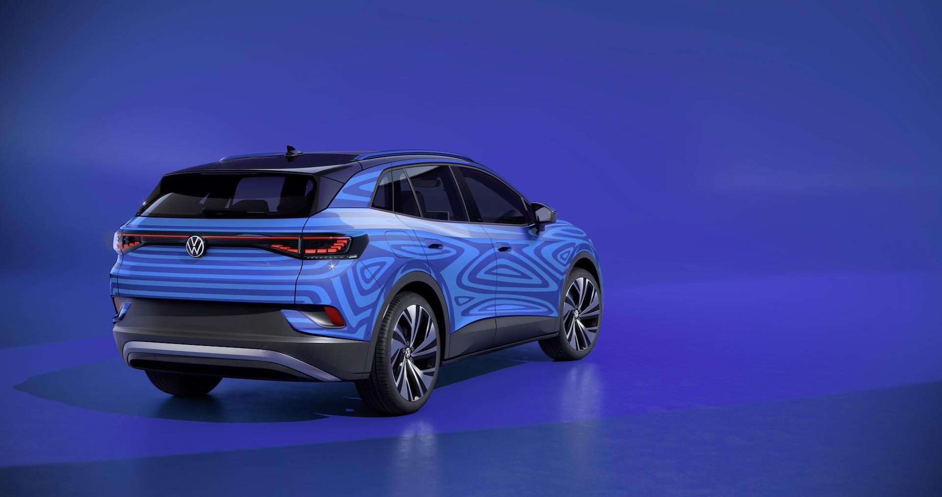 Naujas mėlynas Volkswagen ID.4