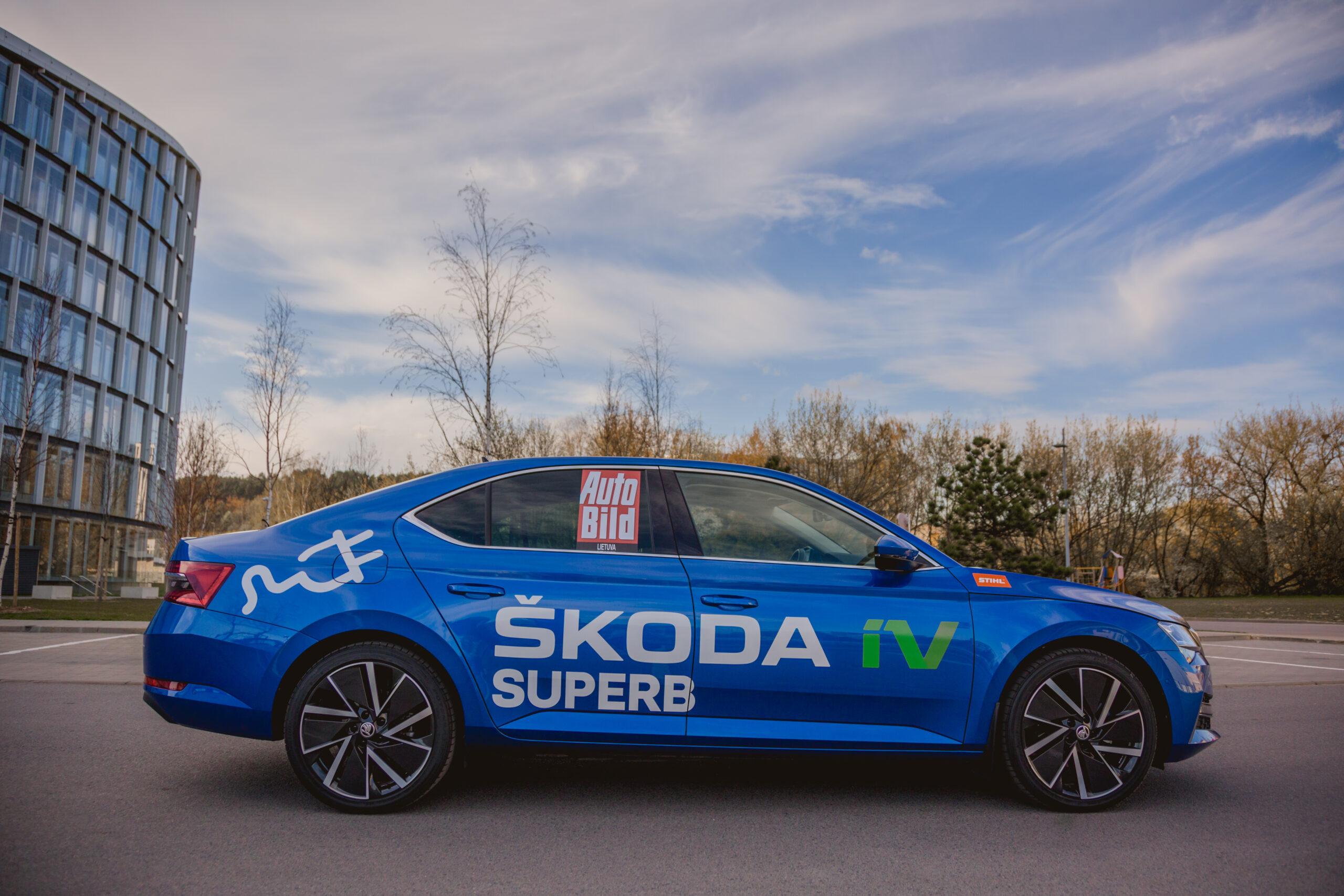 Škoda Superb iV mieste